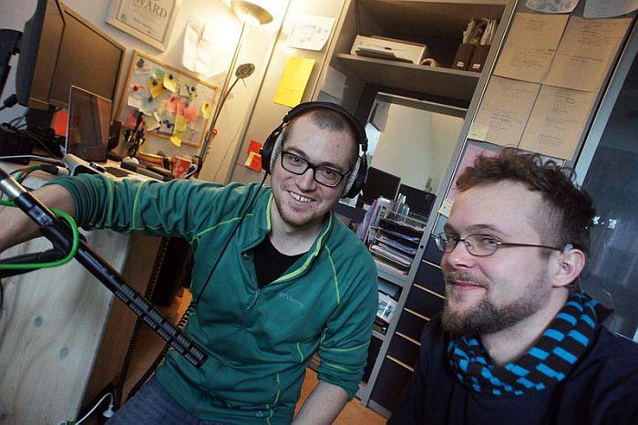 Sounddesigner Simon Kamphans mit Filmemacher Eric Giessmann